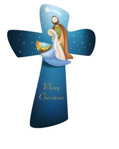 Cross christmas christmas nativity scene with christmas tree on blue background , Christmas Nativity Scene, Christmas Art, Christmas Decorations, Joker Art, Christian Christmas, Tole Painting, Christen, Blue Backgrounds, Crosses