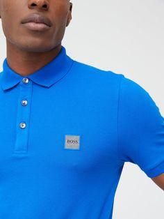 Boss Passenger Slim Fit Polo Shirt - Blue , Bright Blue, Size 2Xl, Men - Bright Blue - 2Xl Slim Fit Polo Shirts, Slim Fit Suits, Three Piece Suit, 3 Piece Suits, Groom Attire, Groom Suits, 3 Piece Suit Wedding, Boss Man, Groom Style