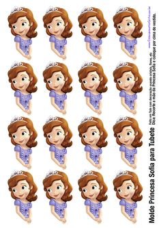etiquetas princesa sofia … (com imagens) Princess Sofia Birthday, Princess Sofia The First, Sofia The First Birthday Party, Princess Party, Princess Sofia Cake, Mickey Mouse Parties, Mickey Mouse Clubhouse, Mickey Mouse Birthday, Tangled Birthday