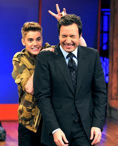 Justin Bieber pulled a prank on Jimmy Fallon while taping Late Night With Jimmy Fallon in NYC on Feb. 5.