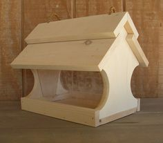 Deluxe bird feeder. Leave it natural or stain it to match your outdoor style.