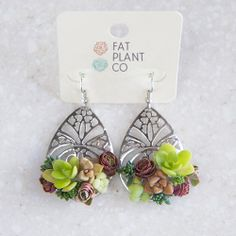 Succulent Earrings 1