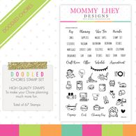 Mommy Lhey Designs Planner Stamps Doodled Chores Planner Stamps