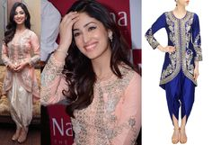 GET THIS LOOK: Yami Gautam looks pretty in an outfit by Sonali Gupta. Shop now: http://www.perniaspopupshop.com/designers/sonali-gupta #yamigautam #sonaligupta #ethnic #perniaspopupshop
