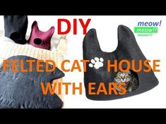 Felted Cat Cave from Kivikis - YouTube