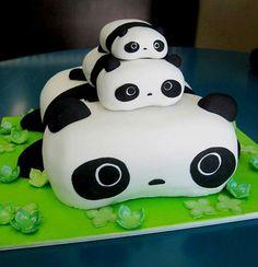panda idée de gateau anniversaire