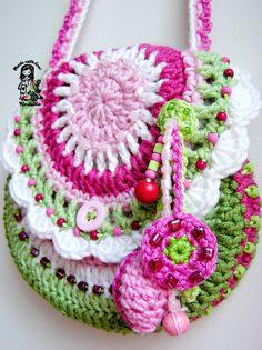 Crochet bag / purse Garden scene collection by VendulkaM on Etsy, $4.99