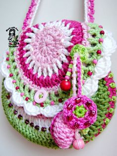 Crochet bag / purse Garden scene collection by VendulkaM on Etsy, $4.99