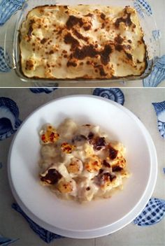 Coliflor Con Bechamel. Recetas - recipes- food