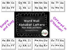 Word wall letters for bulletin board. Easy to cut and printer-friendly! Use for sight words or new vocabulary words. From Education to the Core. Word Wall Labels, Word Wall Letters, Bulletin Board Letters, Word Walls, Special Education Classroom, Classroom Resources, School Classroom, Teaching Resources, Teaching Ideas