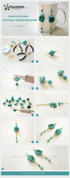 Beaded Earring Tutorial - How to Make Long and ... | Jewelry Making T�� by wanting