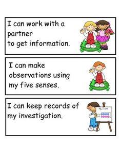 "Kindergarten Science Florida Standards in ""I Can"" Language - Marissa Recchiuti - TeachersPayTeachers.com"