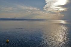 Lake or Sea Airplane View, Greece, Scenery, Sea, Mountains, Places, Nature, Photos, Travel
