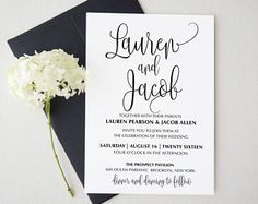 List of sites offering free templates for wedding stationery
