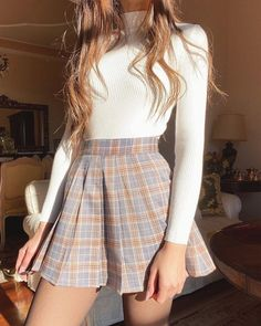 1 – Casual Outfit For Teens – Casual dresses Indie Outfits, Fall Fashion Outfits, Girly Outfits, Cute Casual Outfits, Look Fashion, Stylish Outfits, Fashion Mode, Fashion Ideas, Hipster Outfits