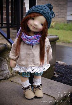 Plume by North Coast dolls Tiny Dolls, Soft Dolls, Bjd Dolls, Doll Toys, Pretty Dolls, Cute Dolls, Beautiful Dolls, Waldorf Toys, Doll Tutorial