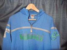 VTG OG 1990's Seattle Seahawks Nike gray Tag Sweatshirt Blue Green RARE NFL…
