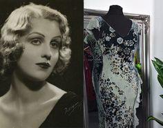 Floaty Dress, Silk Floral Dress, Chiffon Dress, Boho Dress, Silk Dress, 1920s Fashion Dresses, 1930s Fashion, Vintage Dresses, 1930s Style