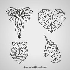 Discover thousands of copyright-free vectors. Graphic resources for personal and commercial use. Thousands of new files uploaded daily. Geometric Cat, Geometric Symbols, Wall Stickers Vector, 3d Zeichenstift, Icon Set, Vektor Muster, Stylo 3d, 3d Tattoos, Horse Tattoos