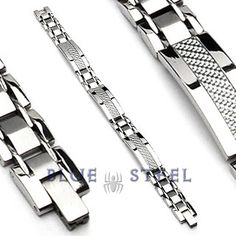 PIN IT TO WIN IT! Angel's Pride: This stainless steek bracelet is one complete accessory around your wrist, no matter what you are wearing. This 316L Stainless Steel Bracelet with Carbon Fiber will surely grab attention for its royal and independent design.  $79.99  www.buybluesteel.com