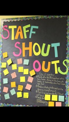 A Few Ways to Say Thank You to Teachers A Few Ways to Say Thank You to Teachers Teacher Appreciation Week<br> Teacher Morale, Staff Morale, Employee Appreciation Gifts, Teacher Appreciation Week, Employee Gifts, Teacher Thank You, Teacher Gifts, Teacher Shout Out Board, Thank You Notes