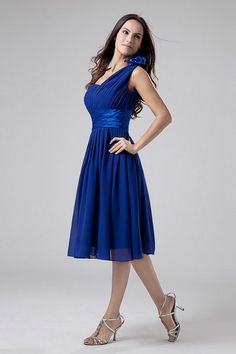 Royal Blue Bridesmaid Dress/Short One Shoulder par DressLovest ...