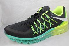 NIKE AIR MAX 2015 Men's Running Shoes 698902-003 Sz 12 Black White Volt #Nike #RunningCrossTraining
