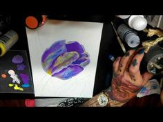 How to Paint Tulip Flower ( DecoArt Acrylics ) - YouTube Tulips Flowers, Acrylics, About Me Blog, Arts And Crafts, Youtube, Painting, Painting Art, Paintings, Acrylic Nails