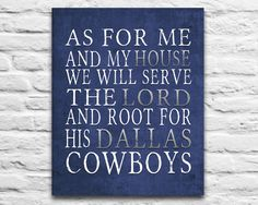 """""""As for me and my house, we will serve the Lord, and root for HisDallas Cowboys"""" **Leave """"The _____ Family"""" or """"no name"""" in the """"Special Notes"""" section during"""