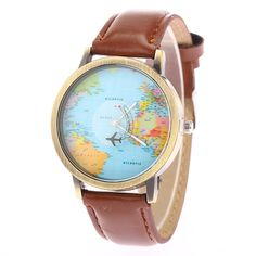 $6.50 (Buy here: http://appdeal.ru/8g7h ) New Fashion Mini World  Map Casual Graffiti Vintage Geneva Lovers' Watches Canvas Strap Along Quartz Watch Men Wristwatch 5010 for just $6.50
