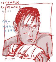 "hengalonsy: ""I redraw the photo shoot that Alexander Skarsgard took for m magazine. """