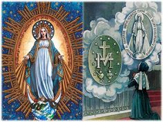 ORACIONES PODEROSAS : ORACIÓN A LA VIRGEN MILAGROSA PARA CASOS DESESPERADOS Catholic Religion, Painting, Sad Love, World, Blessed Virgin Mary, Prayer Of The Day, Stricken, Painting Art, Paintings