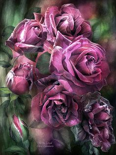 Oh, what glory, to be adored, to be cherished, to be loved, at every stage, at every age of our life. To Be Loved - Mauve rose art and prose by Carol Cavalaris.