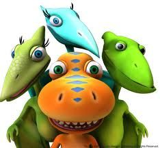 My toddler loves watching Dinosaur Train.  I like that the dinosaur family has an adopted kiddo (like we do).