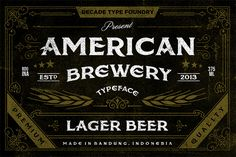 american-brewery-rough-free-font                              …