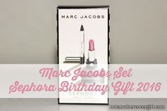 Did you get your birthday gift from Sephora this year? This is my review on one of the items - the Mark Jacobs set
