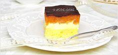 Ciasto ala delicja - przepis - I Love Bake Cheesecakes, Sweet Tooth, Cooking Recipes, Pudding, Cookies, Baking, My Love, Kuchen, Essen
