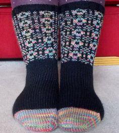 Ravelry: Welsh Tapestry Socks pattern by Ellen Kapusniak