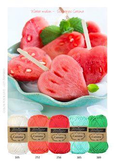 Kleurinspiratie watermeloen Scheepjes Catona