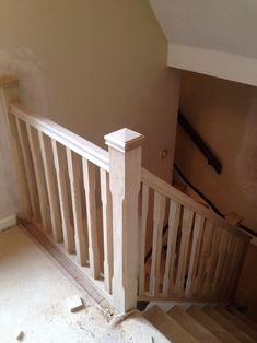Oak Stop Chamfer Spindles & Newels with Pyramid Caps