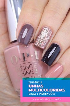 8 fantastic pink nail designs glitter color combos 2019 : have a Pink Nail Designs, Fall Nail Designs, Nails Design, Art Designs, Design Ideas, Design Design, Dark Nails, Gel Nails, Acrylic Nails