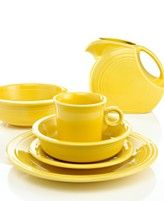 I love Fiesta dinnerware, and have both very old and new pieces in several different colors.