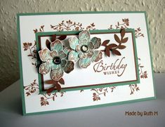Yesterday afternoon my lovely SU! demo Joanne held an SU! workshop for my card group ladies and I was the hostess. We all made this very pre...
