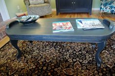 I really, really, really want this coffee table.  Love the blue!