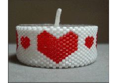 Heart & Heart Tea Light Cover Pattern at Sova-Enterprises.com