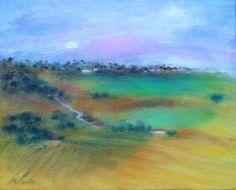 Title: Portugal Landscape  Technique: Oils on canvas  Date: 2009  Size: 21x27 cm.  Price: $250