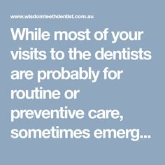 Best dental tips from our expert dentists in Melbourne who are experts in wisdom teeth removal surgery with emergency dentistry from a dental clinic in Melbourne. Emergency Dental Care, Wisdom Teeth Removal, Dental Group, Dentist In, Dental Implants, Melbourne, Tooth, Routine, How To Remove