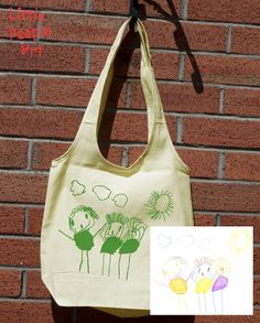 Personalized Tote Bag - Your Child& Drawing Silk Screen Print on Organic Cotton Unbleached Shopping Bag USD) by LittlePeopleArt Personalized Tote Bags, Sweet Pic, Silk Screen Printing, People Art, Drawing For Kids, Little People, Special Gifts, Shopping Bag, Organic Cotton