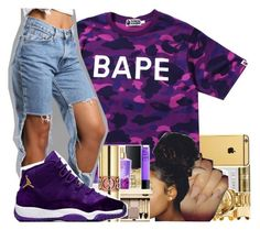 """""""Untitled #2343"""" by kayla77johnson ❤ liked on Polyvore featuring A BATHING APE"""