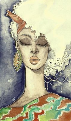 Beauty culture #afro #watercolor #illustration #drawmore